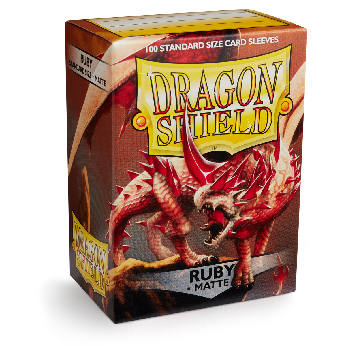 Dragon Shield 100 Sleeves - Matte Ruby