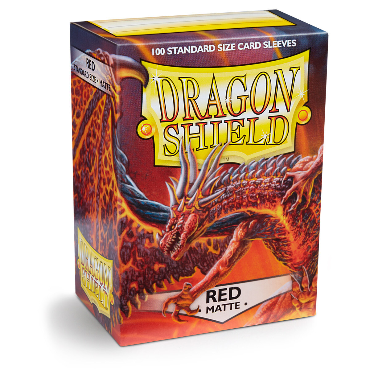 Dragon Shield 100 Sleeves - Matte Red