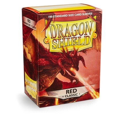 Dragon Shield 100 Sleeves - Red