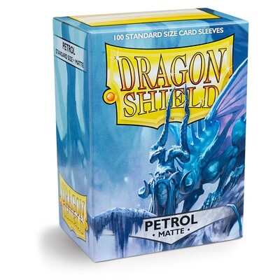 Dragon Shield 100 Sleeves - Matte Petrol