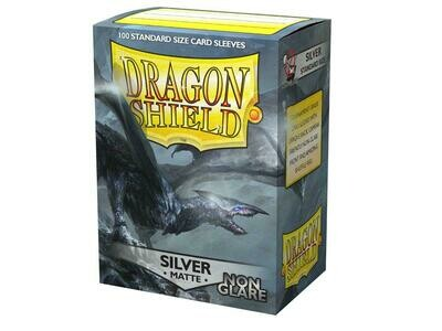 Dragon Shield 100 Sleeves - Matte Silver NON Glare