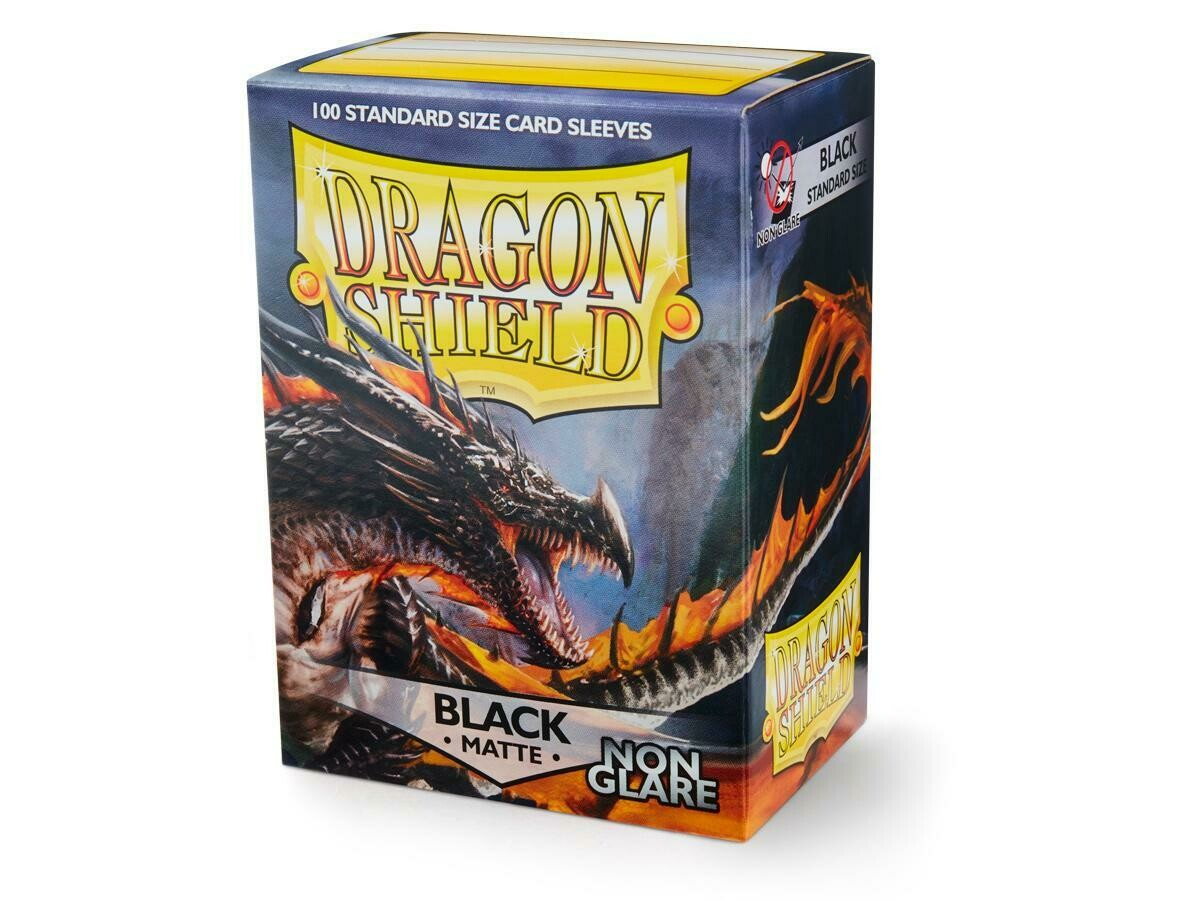 Dragon Shield 100 Sleeves - Matte Black NON Glare
