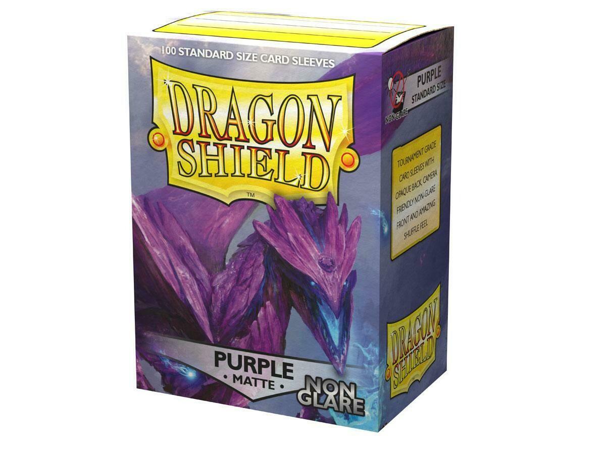 Dragon Shield 100 Sleeves - Matte Purple NON Glare