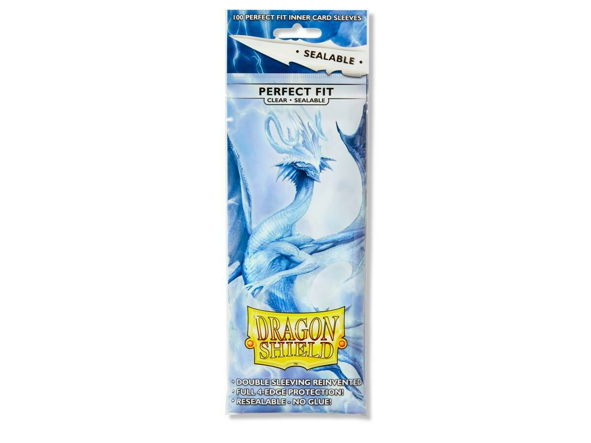 Dragon Shield Perfect Fit Sealable Clear - 100 Sleeves