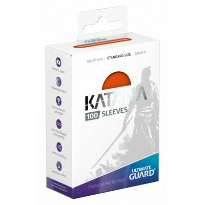 66x91 mm - Ultimate Guard 100 bustine Premium Protection Katana - Orange