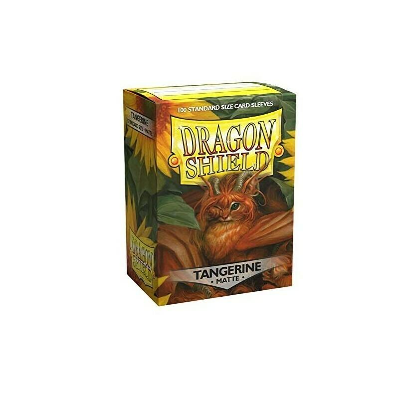 Dragon Shield 100 Sleeves - Matte Tangerine
