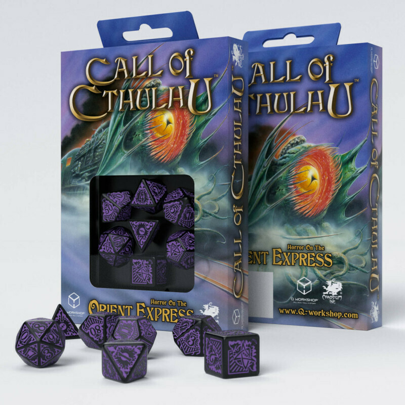 Call of Cthulhu - Dice Set Orient Express Black/Purple