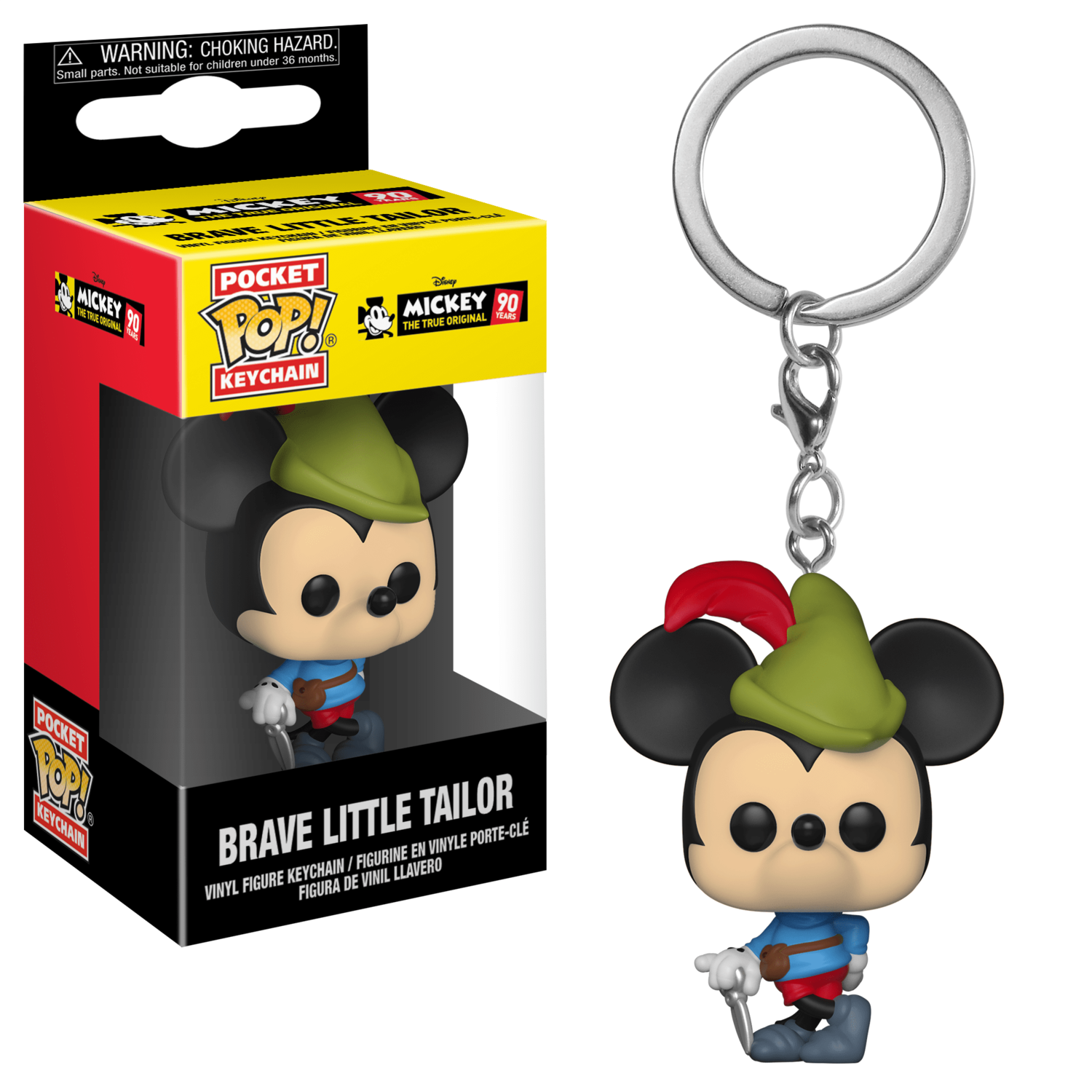 POCKET POP Keychains -  Mickey Mouse Brave Little Tailor