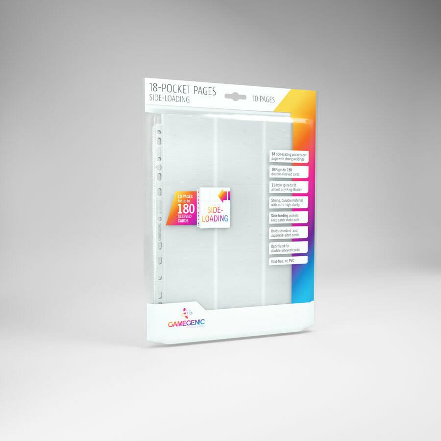 18 Pocket Pages side Loading - White