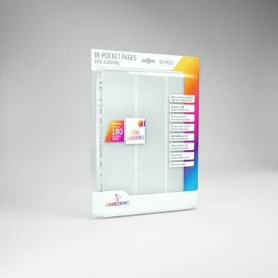 18 Pocket Pages side Loading - White