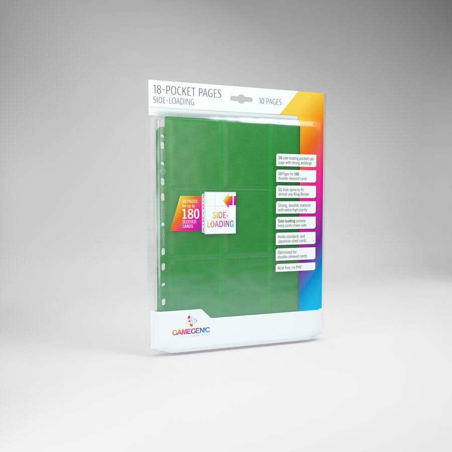 18 Pocket Pages side Loading - Green