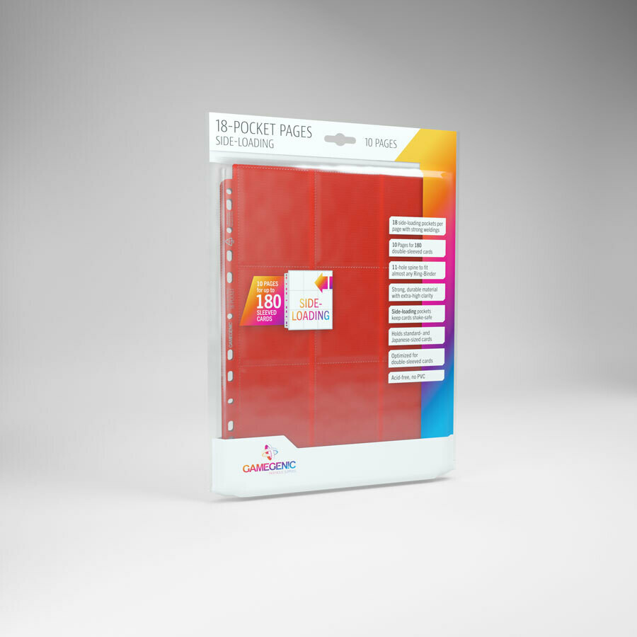 18 Pocket Pages side Loading - Red