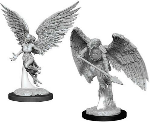 D&D Nolzur's Marvelous Miniatures - Harpy & Aarakocra (2 Miniature)