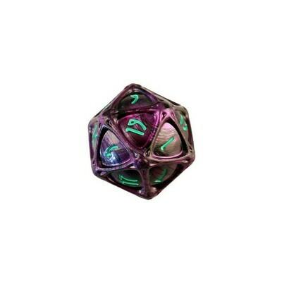 PolyHero 1d20 Orb - Wizardstone with Mystic Runes