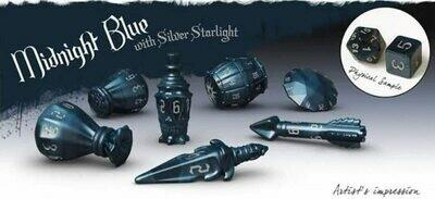 PolyHero Rogue 7-Dice Set - Midnight Blue