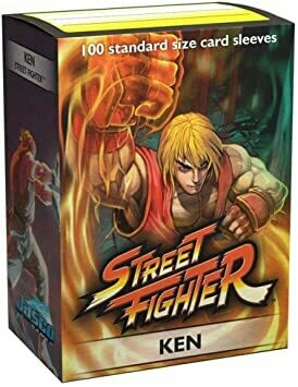 Dragon Shield 100 Sleeves - Art - Street Fighter: Ken