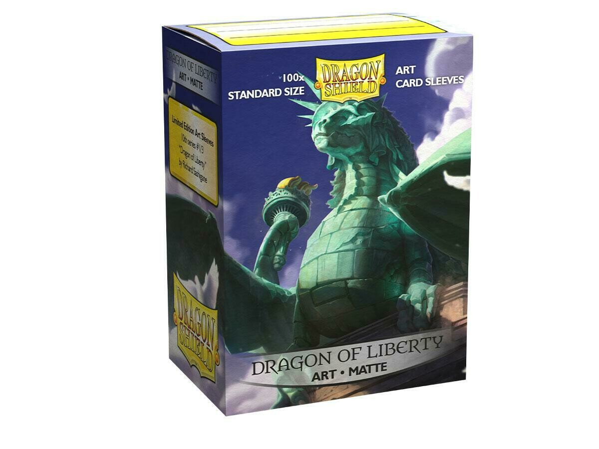 Dragon Shield 100 Sleeves - Matte Art Dragon of Liberty