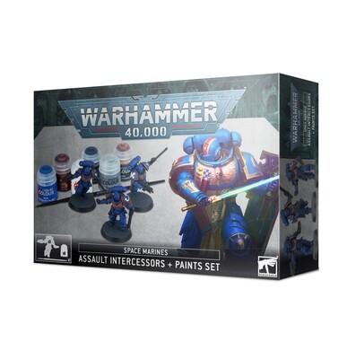 Warhammer 40000: Assault Intercessor + Paint Set