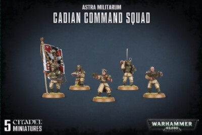 Warhammer 40000: Astra Militarum Cadian Command Squad