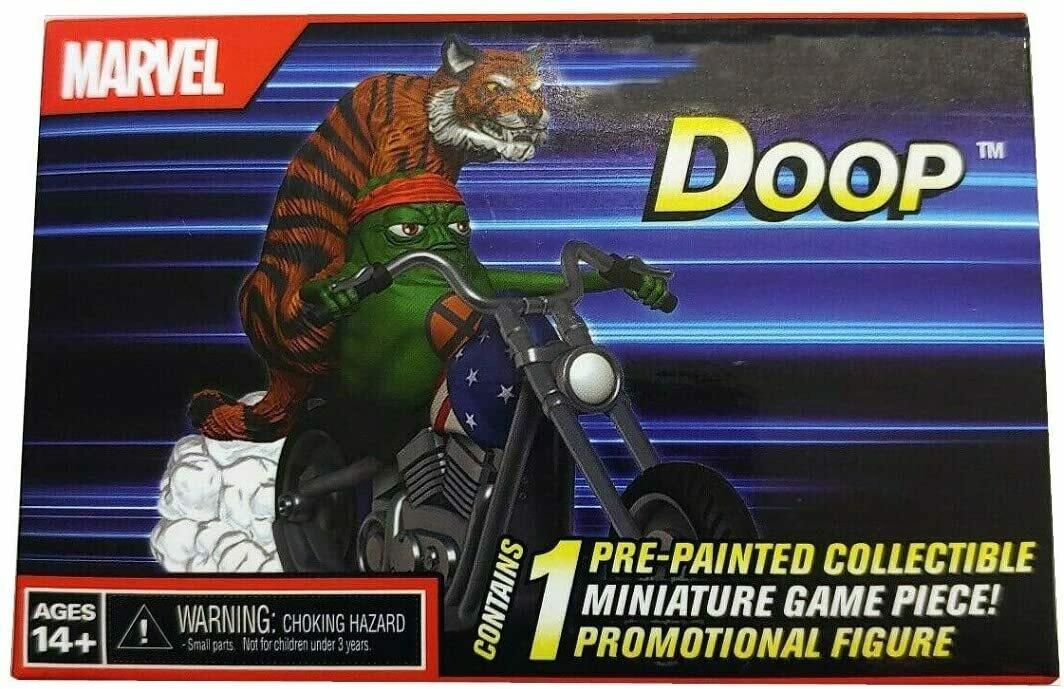 Doop on Motorcycle with Tiger Con Ex 2019 - Heroclix