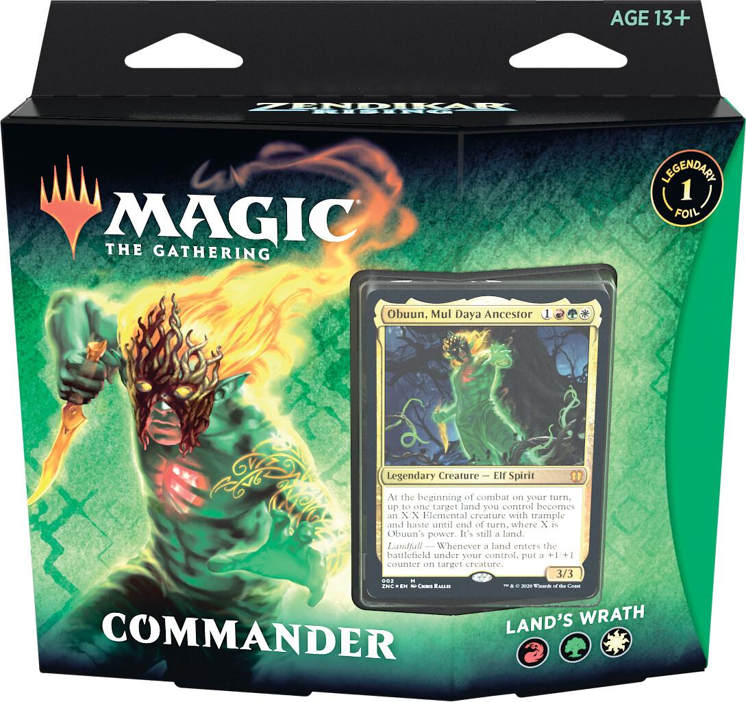 Rinascita di Zendikar Mazzo Commander Land's Wrath ENG - Magic: the Gathering