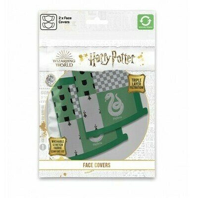 Pyramid Face Masks - Harry Potter (Slitherin) x2