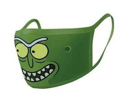 Pyramid Face Masks - Rick & Morty (Pickle Rick) x2