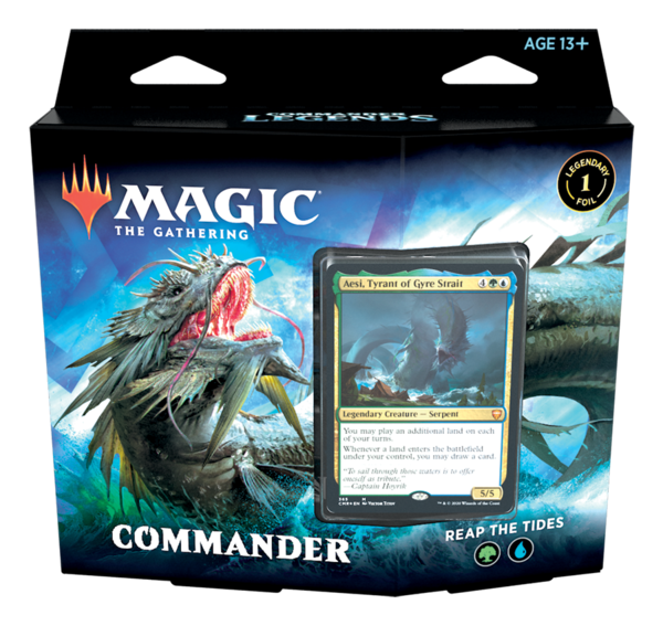 Leggende di Commander Mazzo Commander Reap the Tides ENG - Magic: the Gathering