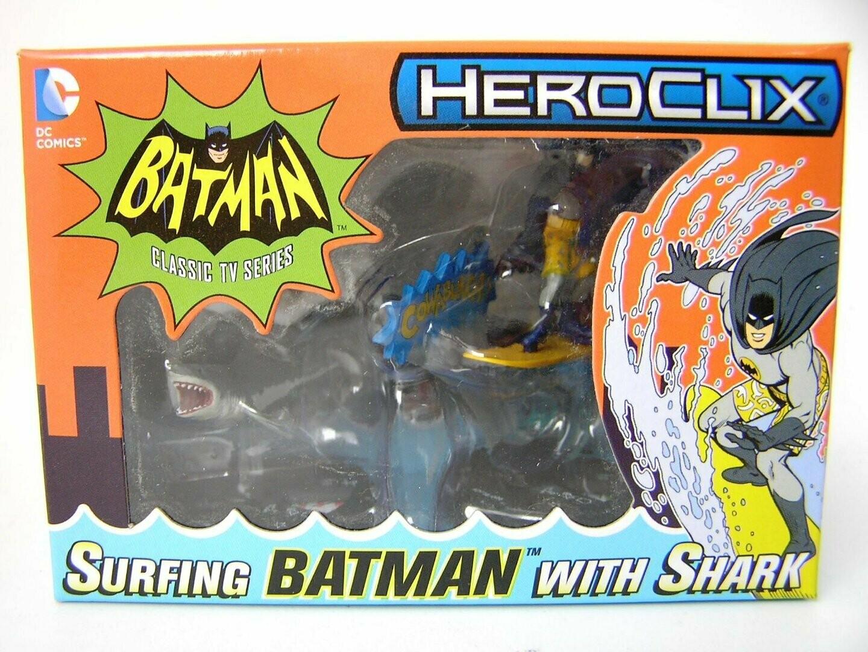 Heroclix 1966 Batman surfing and Shark - Exclusive Figure