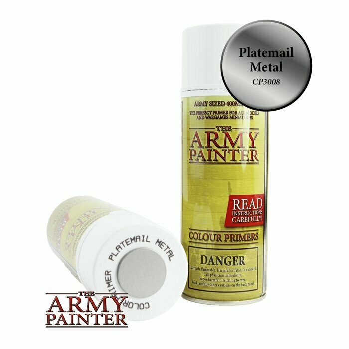 Army Painter Primer Spray: Plate Mail Metal