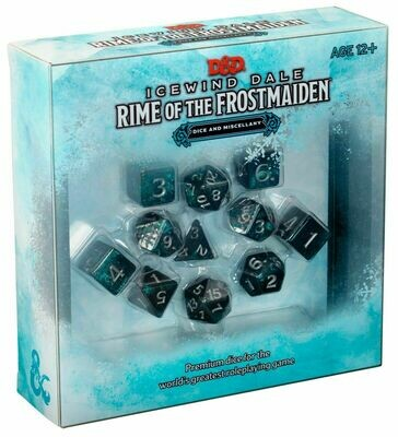 D&D Icewind Dale - Rime of the Frostmaiden Dice Set - Quinta Ed.