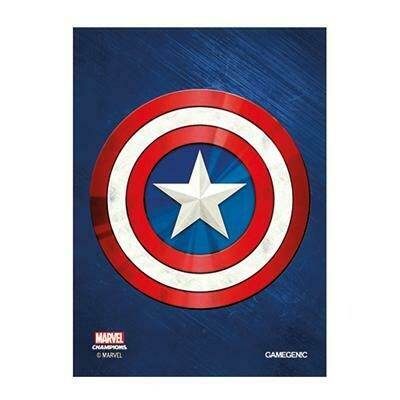 66x91 LCG Art Sleeves - Captain America