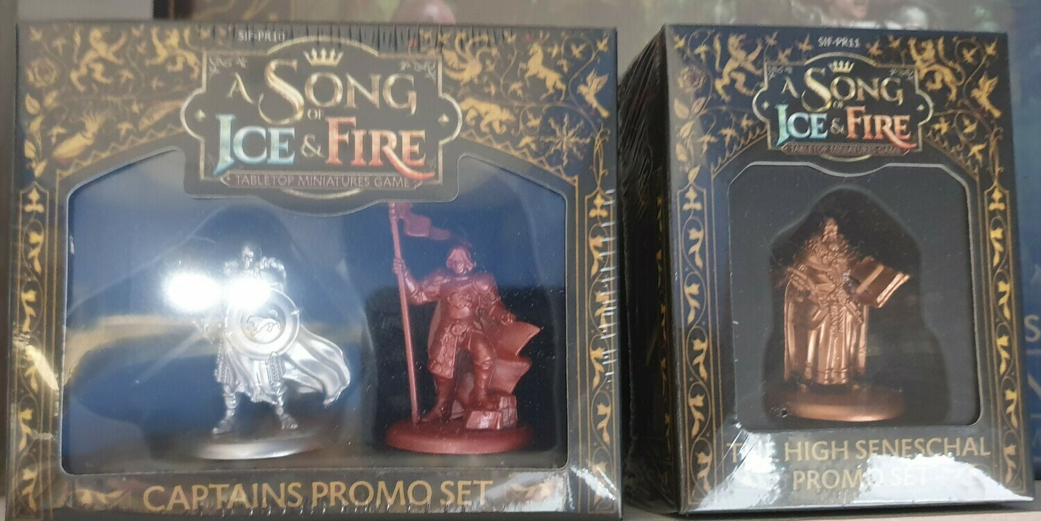 A Song of Ice and Fire Miniature Game - Promo Miniatures (Seneschal e Captains)
