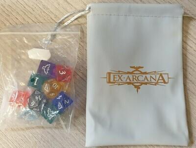 Lex Arcana - Set translucent con sacchetto