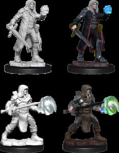 D&D Nolzur's Marvelous Miniatures - Multiclass Fighter + Wizard  (2 Miniature)