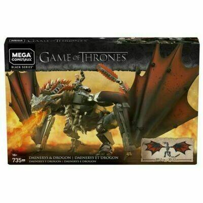 MATTEL Mega Construx Game of Thrones Black Series Construction Set Daenerys & Drogon