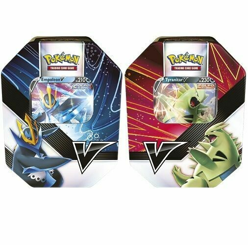 Pokemon Tin da Collezione Colpi - V