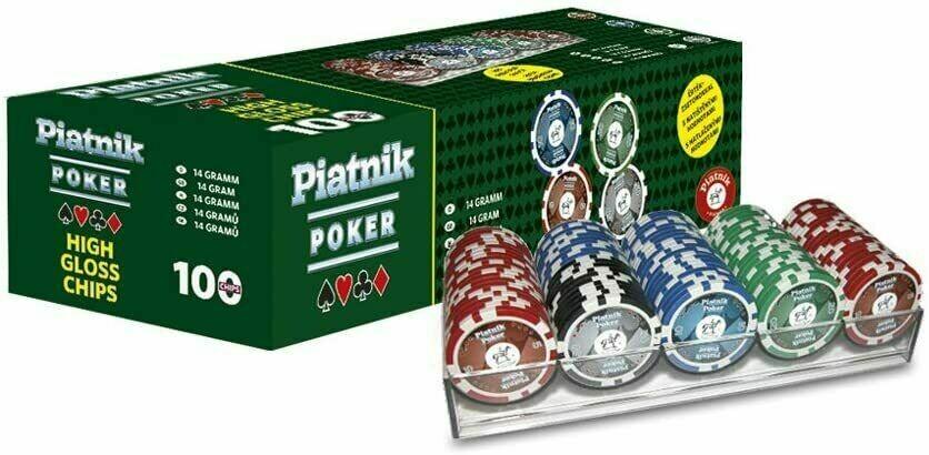 Piatnik Poker Set 100 fiches (High Gloss Chips)