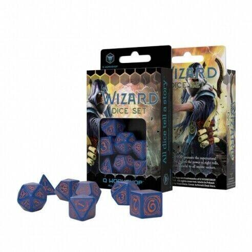 Set dadi Q-workshop - Mago Blu/Arancione