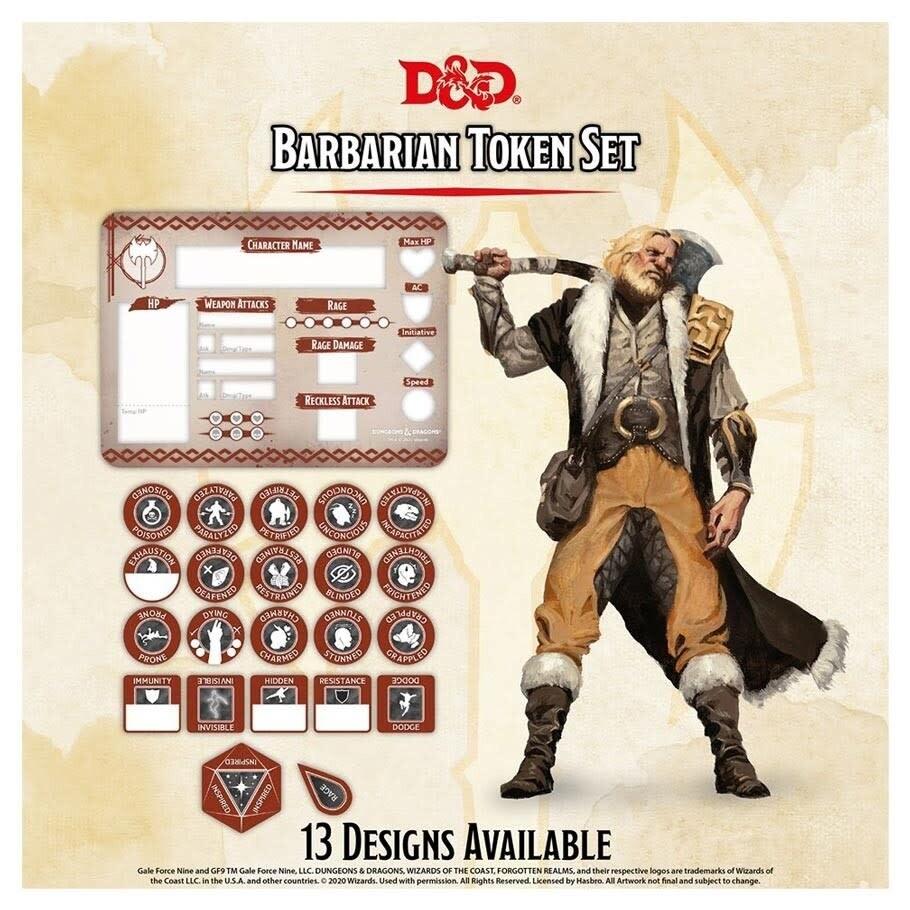 D&D - Barbarian Token Set