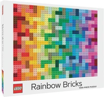 Puzzle LEGO Rainbow Bricks 1000p
