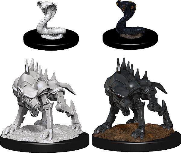 D&D Nolzur's Marvelous Miniatures: Iron Cobra & Iron Defender