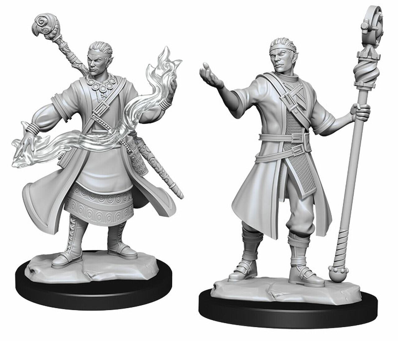 D&D Nolzur's Marvelous Miniatures: Half Elf Wizard Male (2 unit)