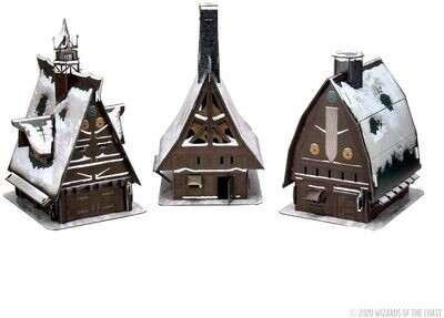 D&D Icons of the Realms Miniatures: Icewind Dale: Rime of the Frostmaiden - Ten Towns Papercraft Set - EN