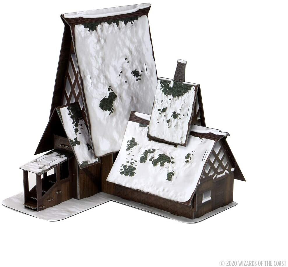 D&D Icons of the Realms Miniatures: Icewind Dale: Rime of the Frostmaiden -The Lodge Papercraft Set - EN