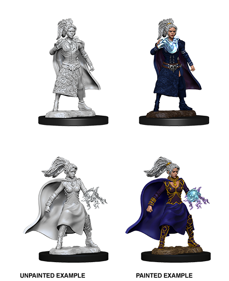 D&D Nolzur's Marvelous Miniatures - Human Female Sorcerer (2 Miniature)