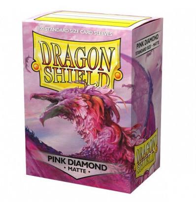 Dragon Shield 100 Sleeves - Matte Pink Diamond