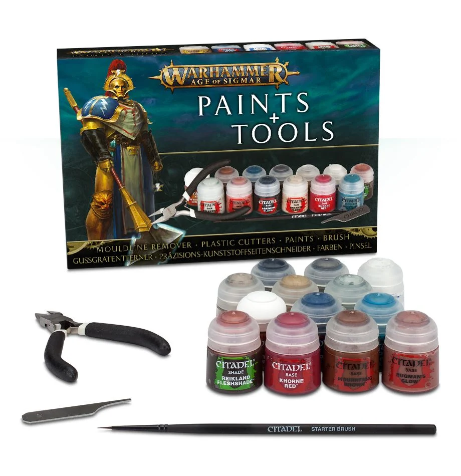 Warhammer Age of Sigmar - Paints + Tools Set