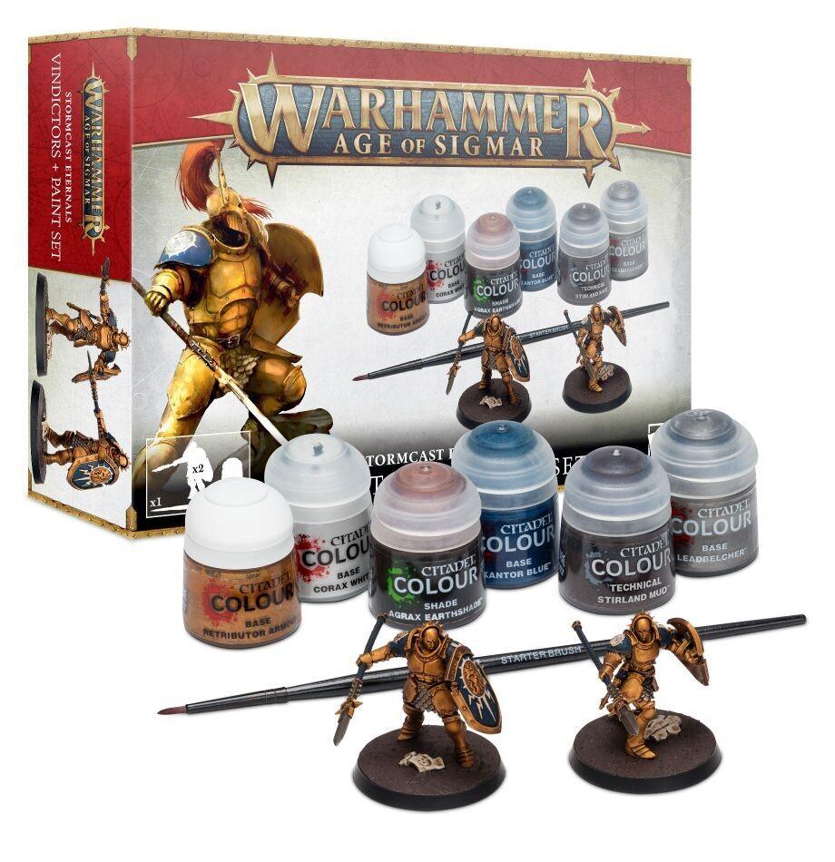 Warhammer Age of Sigmar - Stormcast Eternals: Vindictors + Paints Set