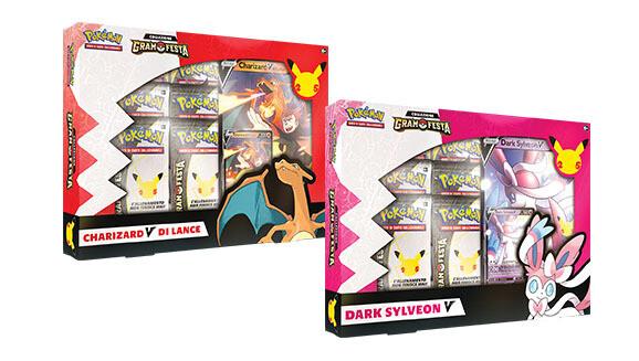 Pokemon Collezione Gran Festa - Charizard V di Lance e Dark Sylveon V